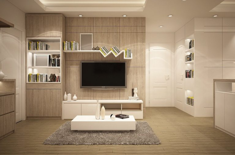 salon moderne rangement