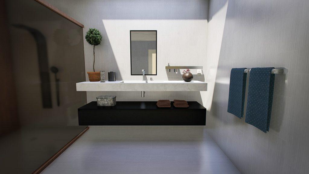 miroir noir salle de bain