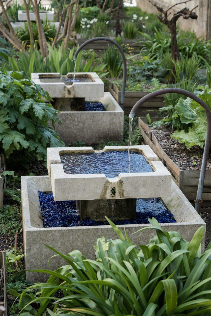 fontaine jardin double